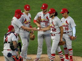 Two St. Louis Cardinals players have tested positive for COVID-19, and MLB has cancelled the team's game with the Milwaukee Brewers on Friday afternoon. (Image: Jim Mone/AP)