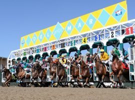 After taking last weekend off due to a coronavirus outbreak among its jockeys, Del Mar's starting gate opens again beginning Friday. (Image: Del Mar Thoroughbred Club)