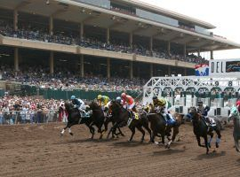 The horses breaking from Del Mar's starting gate for its summer meet will undergo health scrutiny unlike any seen before. And they'll do it in front of empty grandstands at the seaside San Diego-area track. (Image: Horsephotos /Getty Images)