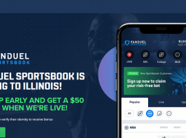 FanDuel and DraftKings received temporary operating licenses in Illinois for online sports books apps and hope to begin offering wagers soon. (Image: FanDuel website)