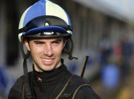 Florent Geroux became the latest high-profile jockey testing positive for the coronavirus. (Image: Pat McDonogh/Courier-Journal)