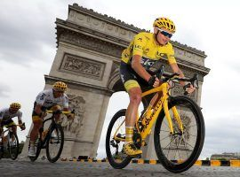 Four-time Tour de France champion Chris Froome in Paris during his 2017 victory. (Image: Chris Graythen/Getty)