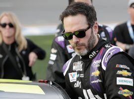 Jimmie Johnson tested positive for COVID-19, and will not race in Sunday's Brickyard 400 at Indianapolis Motor Speedway. (Image: AP)