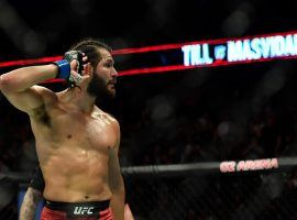 Jorge Masvidal is stepping in to fight Kamaru Usman for the welterweight title at UFC 251. (Image: Steven Flynn/USA Today Sports)