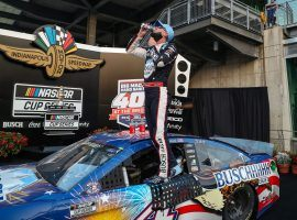 Kevin Harvick picked up his fourth win of the 2020 NASCAR Cup Series season at Indianapolis Motor Speedway on Sunday. (Image: Jenna Watson/IndyStar)
