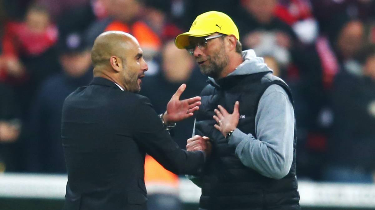 Man City Guardiola Klopp Mourinho