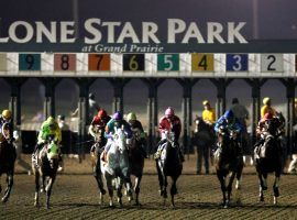 Citing the coronavirus, Lone Star Park officials suddenly suspended racing following Sunday's first of nine scheduled races. (Image: Mike Stone/For the Dallas Morning News)