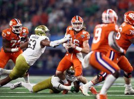 Notre Dame will play Clemson as part of its ACC conference schedule for the 2020 college football season. (Image: Ronald Martinez/Getty)