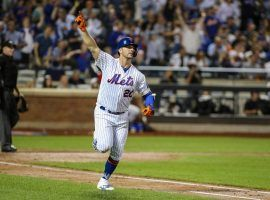 NY Mets slugger Pete Alonso celebrates a home run at CitiField in Queens, NY. (Image: Wendell Cruz/USA Today Sports)