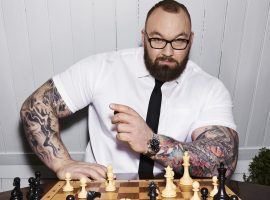 Hafthor Julius Bjornsson is among 16 plyers who will take part in the second edition of the Pogchamps online chess tournament. (Image: Peter Yang/Men's Health)