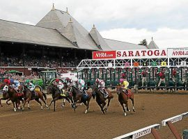 The horses leaving he starting gate at Saratoga is a summer staple. It continues with a stacked Saturday card featuring three Grade 1 stakes races. (Image: The Saratogian)