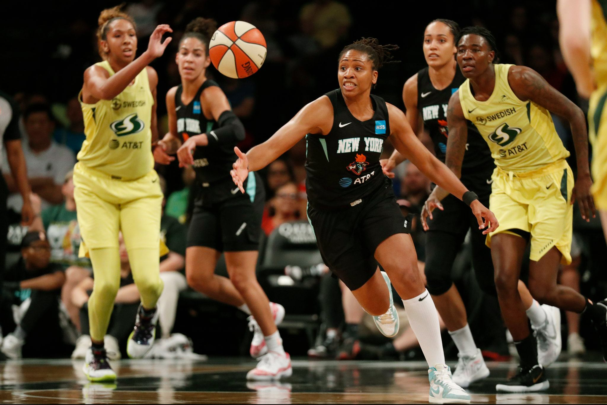 Seattle Storm and New York Liberty play the first game of the 2020 WNBA schedule