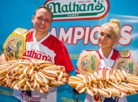 Joey Chestnut and Miki Sudo are the defending champions of the Nathan's Hot Dog eating contest. (Image: UPI)