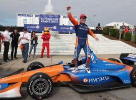 Scott Dixon is the 4/1 favorite to win Saturday's GMR Grand Prix at the road course at Indianapolis Motor Speedway. (Image: AP)