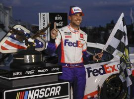 Denny Hamlin won last week at Pocono, and is a favorite to win Sunday's Brickyard 400 at Indianapolis Motor Speedway. (Image: AP)