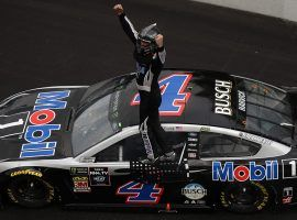 Kevin Harvick won the Brickyard 400 last year, and is the 4/1 favorite to win again. (Image: Getty)