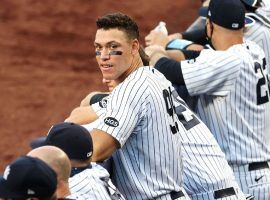 Aaron Judge watches his teammates bat during a game at Yankee Stadium in the Bronx. (Image: Getty)