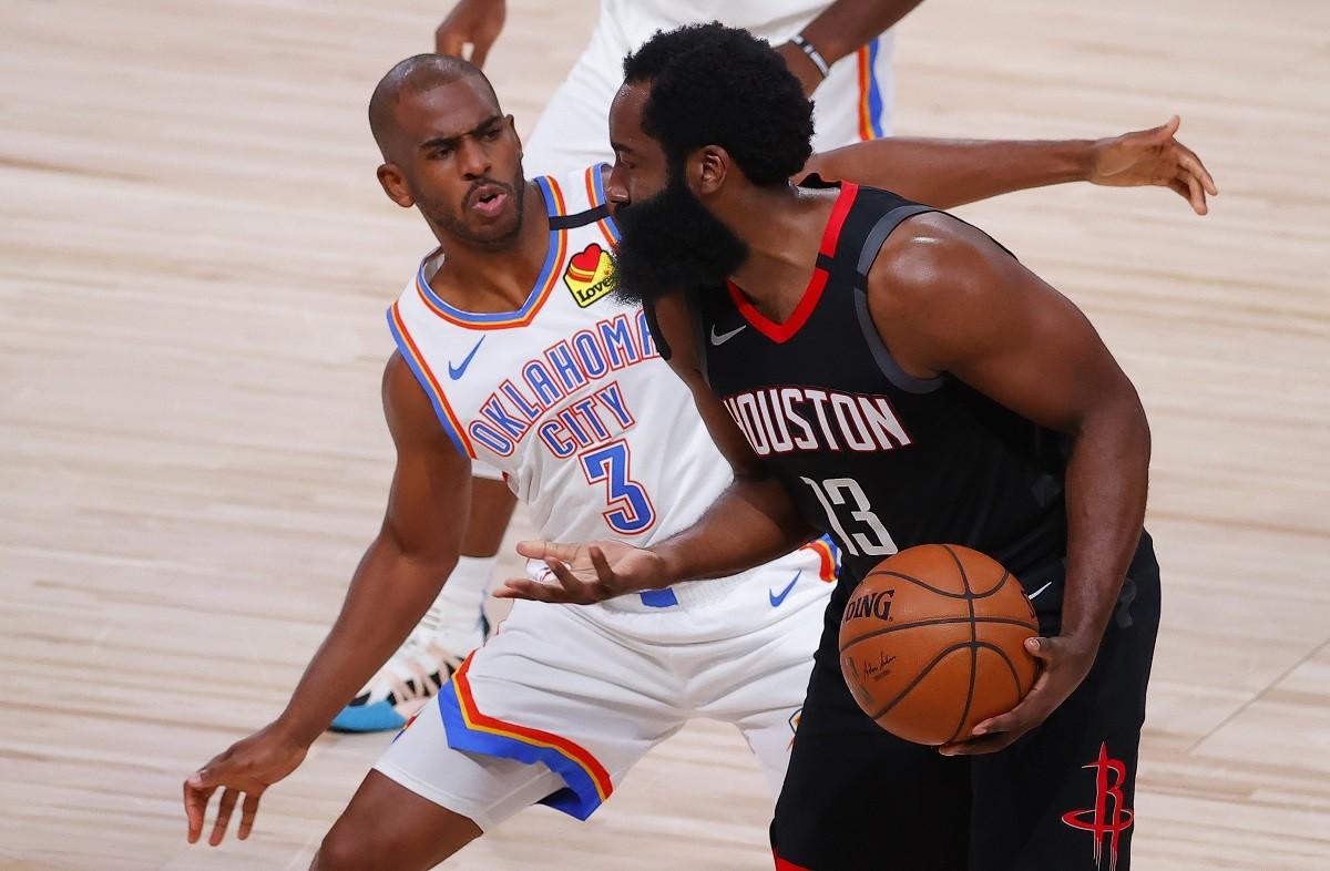 NBA Playoffs CP3 Harden Oklahoma City Thunder OKC Westbrook Houston Rockets