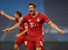 Robert Lewandowski and Bayern Munich face off against PSG in the Champions League final on Sunday. (Image: Getty)