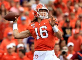 Trevor Lawrence and the Clemson Tigers come into the 2020 college football season ranked No. 1 in the Coaches Poll. (Image: Streeter Lecka/Getty)