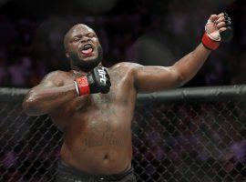 Derrick Lewis (pictured) will take on Alexey Oleynik in the main event of Saturday's UFC Fight Night card. (Image: John Locher/AP)