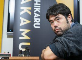 Hikaru Nakamura swept Daniil Dubov in three sets to advance to the finals of the Magnus Carlsen Chess Tour Final. (Image: Lennart Ootes/Saint Louis Chess Club)