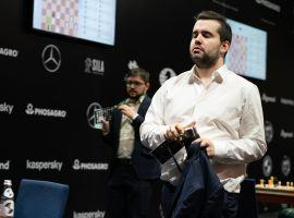Ian Nepomniachtchi (pictured) can earn a spot in the Magnus Carlsen Chess Tour Grand Final if he upsets Carlsen in the final of the Legends of Chess. (Image: Maria Emelianova/FIDE)