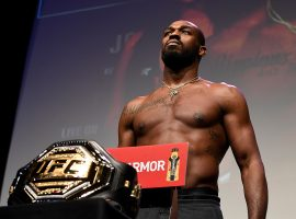 Jon Jones has vacated his light heavyweight championship, but says he's interested in making a run in the UFC's heavyweight division. (Image: Mike Roach/Zuffa/Getty)