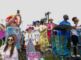 You won't see scenes like these from the 2019 Kentucky Derby infield at this year's Derby. The infield is closed for the Sept. 5 race and seating is limited to 40% of capacity. (Image: Christopher Fryer/Louisville Business First)