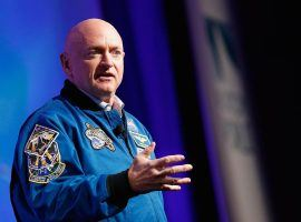 Former astronaut Mark Kelly is leading in his bid to capture a key Senate seat in Arizona. His victory is seen as key to Democratic hopes winning that state for the first time since 1996. (Image: Brian Ach/Getty)