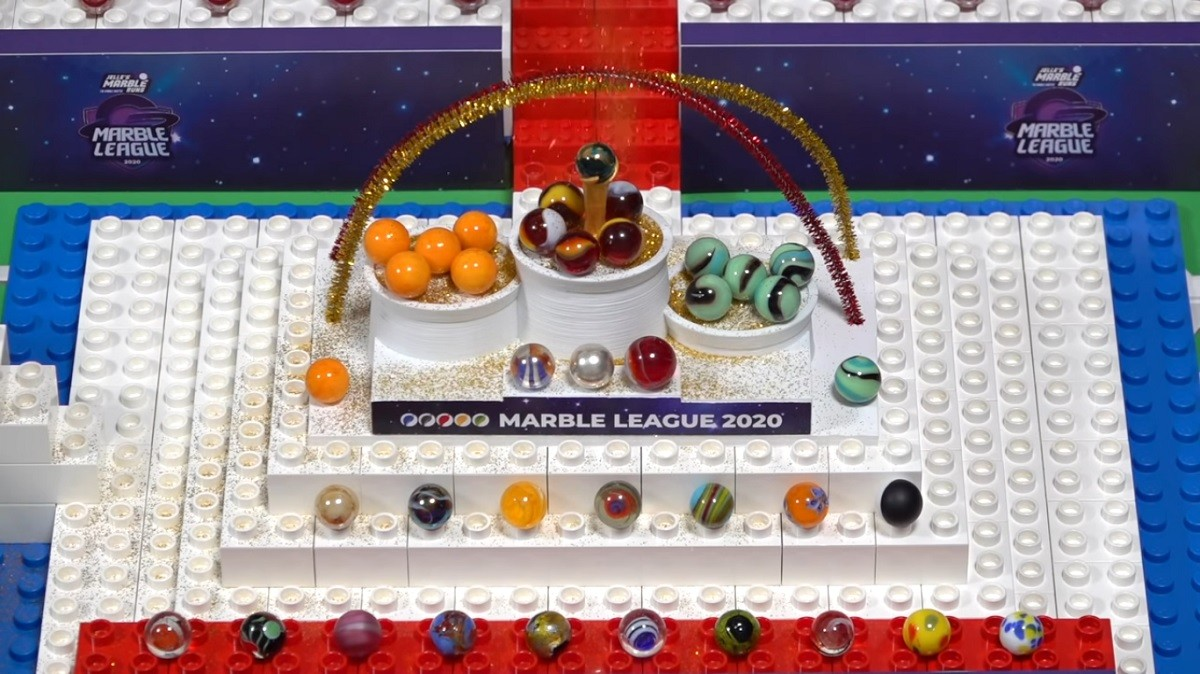 Marble Olympics Racing League 2020 Savage Speeders O'rangers Minty Maniacs