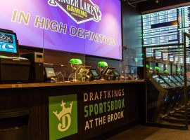 DraftKings has launched the first retail sportsbook in New Hampshire at The Brook in Seabrook. (Image: DraftKings)