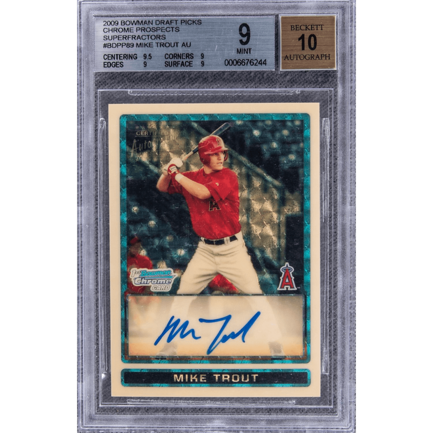 Mike Trout Rookie Card sets all time record.
