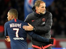 Thomas Tuchel will guide PSG against RB Leipzig – led by his former player, Julian Nagelsmann – in the Champions League semifinal. (Image: Getty)