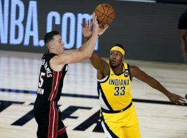 Duncan Robinson set a Miami Heat record with seven 3-pointers made without attempting a 2-point shot. (Image: Getty)