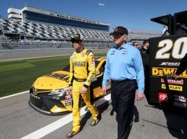Owner Joe Gibbs, right, announced on Thursday that Erik Jones would not be returning to the team in 2021. (Image: Getty)