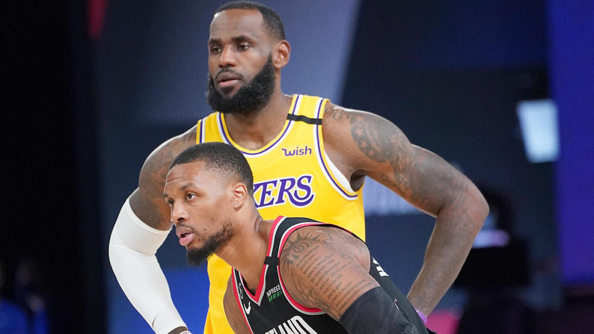 NBA playoffs Damian Lillard LeBron James LA Lakers Portland Trail Blazers