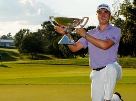 Justin Thomas won the FedEx Cup Playoffs in 2017, and is the favorite to win again this year. (Image: Getty)