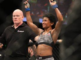 Angela Hill will become the first African American woman to headline a UFC card when she takes on Michelle Waterson on Saturday. (Image: Jasmin Frank/USA Today Sports)