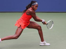 Coco Gauff dropped her opening match at the US Open on Monday, losing to Anastasija Sevastova in three sets. (Image: Getty)