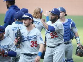 The Los Angeles Dodgers clinched a playoff spot on Wednesday, becoming the first MLB team to do so in the shortened 2020 season. (Image: Sean M. Haffey/Getty)