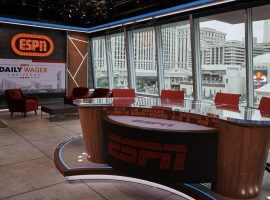 ESPN extended its partnership with Caesars, which already included a studio at the LINQ in Las Vegas. (Image: Al Powers/ESPN)(Photo by Al Powers / ESPN Images)