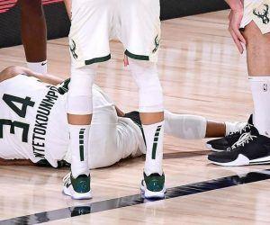 Greek Freak ankle injury Bucks Milwaukee