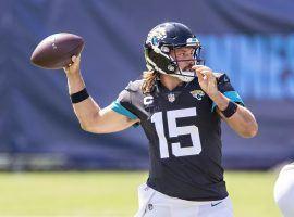 Gardner Minshew, Jacksonville jaguars QB, drops back to pass in Week 2. (Image: Wesley Hitt/Getty)