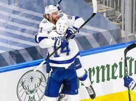 Tampa Bay Lightning captain Steven Stamkos celebrates a goal in his first game back after a seven-month layoff. (Image: Marko Ditkun/Tampa Bay Times)