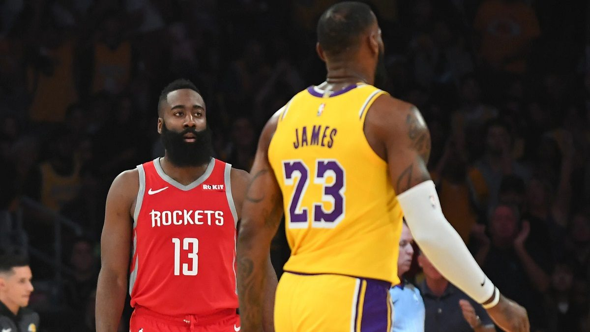 LeBron James Harden Playoff NBA LA Lakers Houston Rockets