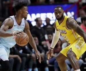 LeBron James Miami Heat LA Lakers Jimmy Butler NBA Finals Game 1