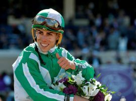 Irad Ortiz Jr. ranked No. 1 in North American jockey wins the last three years and earnings the last two. He became the latest prominent jockey testing positive for COVID-19. (Image: Gregory Bull/AP)