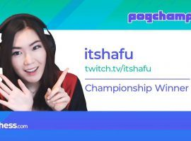 ItsHafu finished off Gripex 2-0 in the final to win the Pogchamps 2 championship. (Image: Chess.com)