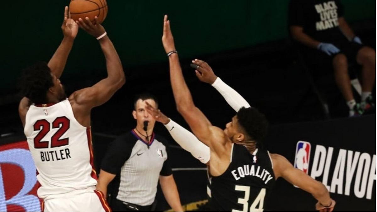 Milwaukee Bucks Miami Heat NBA playoffs Jimmy Butler Greek Freak